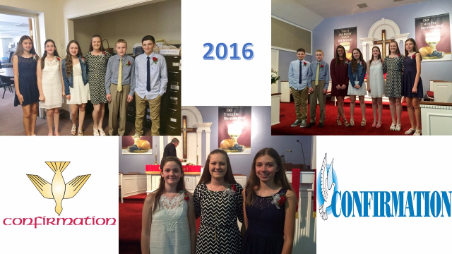 2016 Confirmation