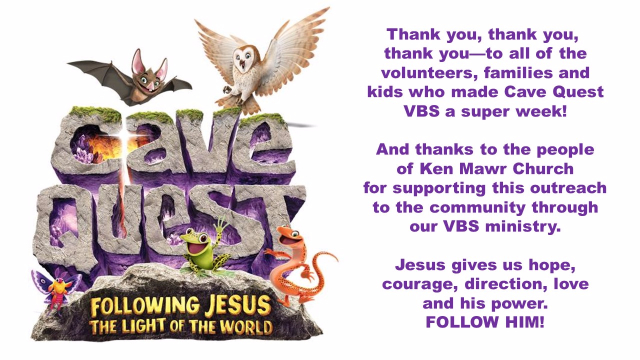 2016 VBS thank you